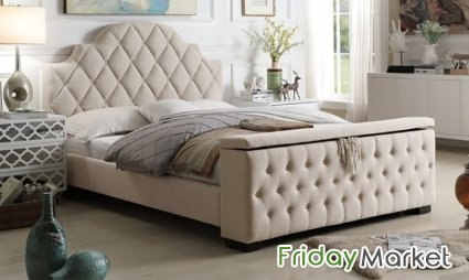 Footboard Storage Bed With Optional Mattress A To Z Furniture In