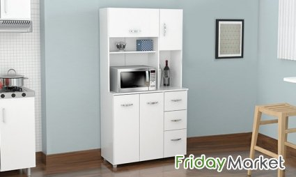 White Kitchen Storage Cabinet A To Z Furniture Dubai In Uae