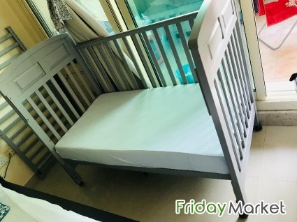 Juniors Baby Crib With Mattress .. 18months Old Product Dubai UAE