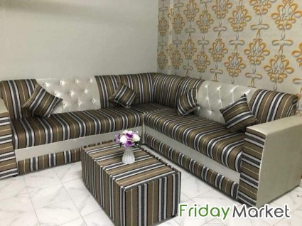 BRAND NEW LSHAPE SOFA SET WITH CENTRE TABLE AVAILABLE FOR SALE Sharjah UAE
