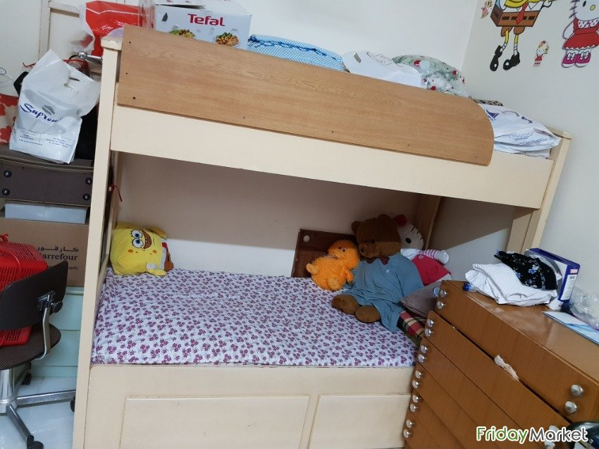 Second Hand Wooden King Size Bunk Bed For Sale In Uae Fridaymarket