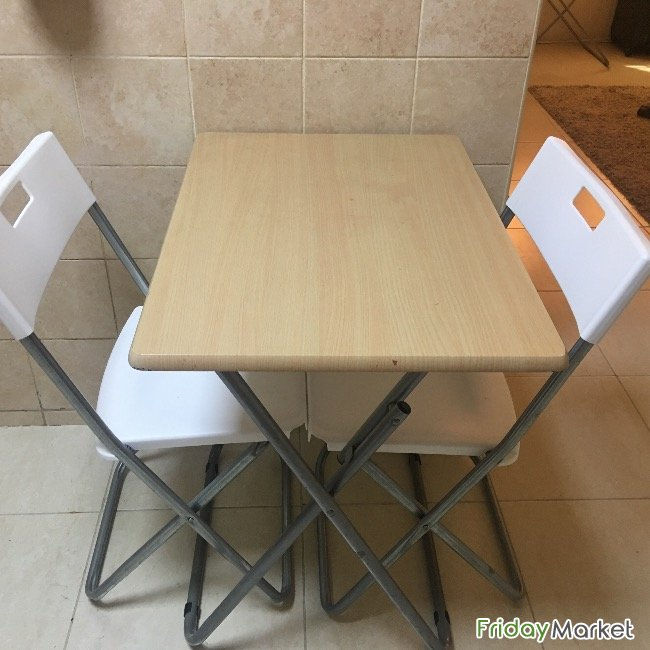 Ikea White Chairs & Dining Table Ajman UAE